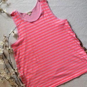 J.Crew girls' striped tank top w/side detail